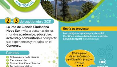 El 2 y 3 de septiembre se realizará el Congreso de Ciencia Ciudadana Nacional 2021